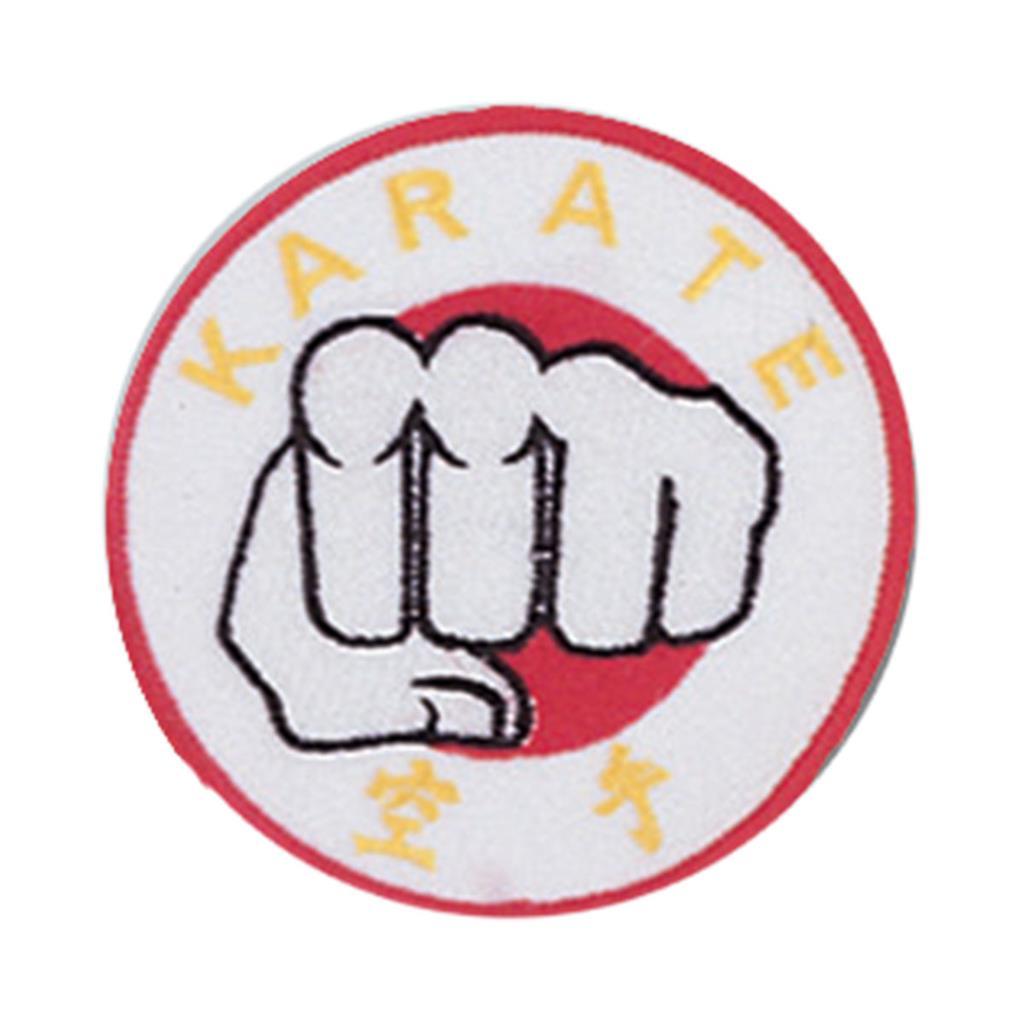 fist symbolism on a karate patch