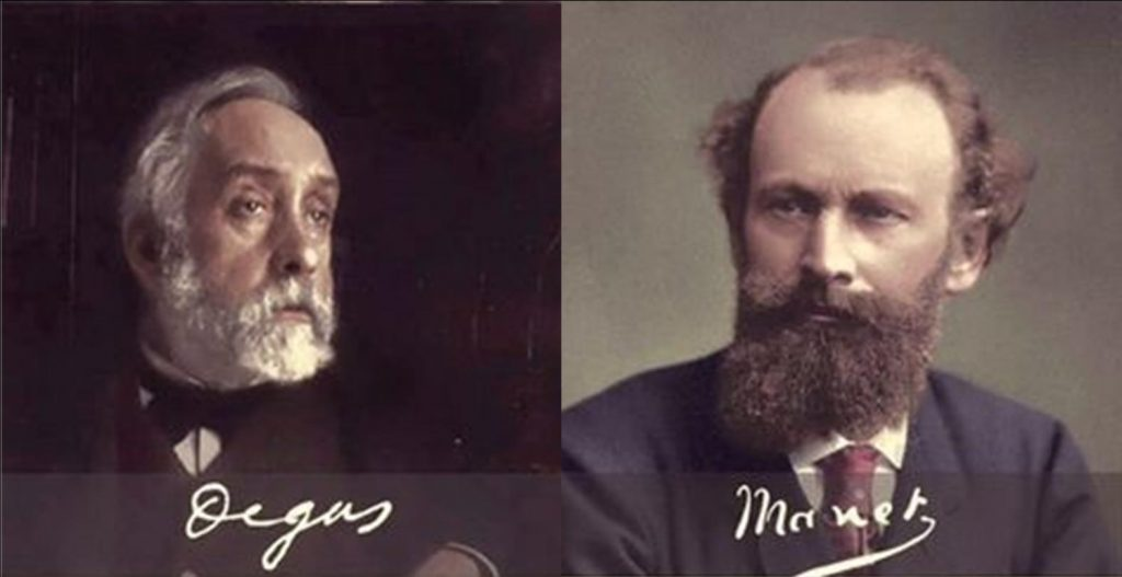 Degas and Manet were artist creatives who collaborated