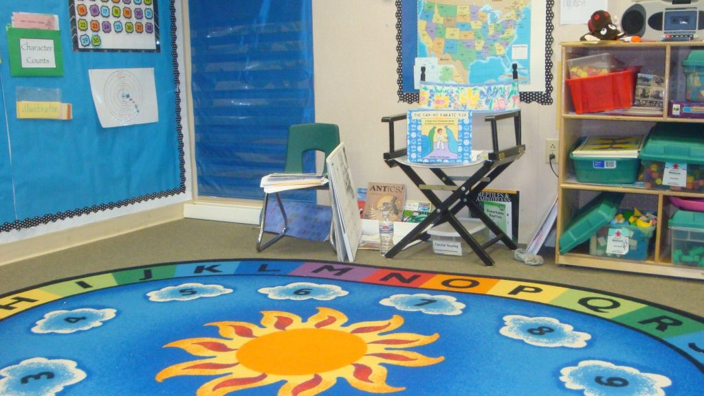 my character building book in the classroom reading corner, ready for the kids