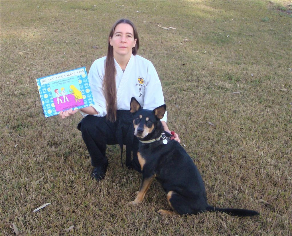 karate instructor celebrates launch of  her new children's book with a karate with your dog class