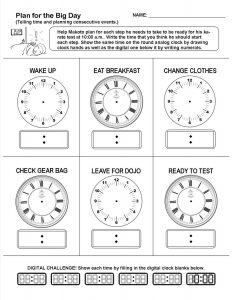 Planning and Telling Time Lesson and Worksheet