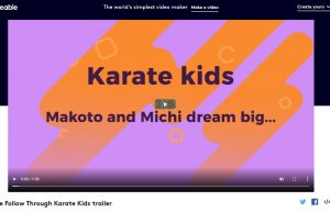 Book trailer for The Follow Through Karate Kids