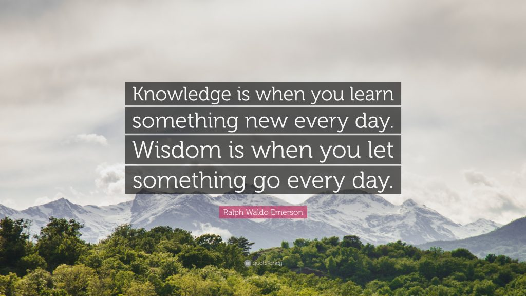 "quote to encourage the curious, ""Knowledge is when you learn something new every day."""
